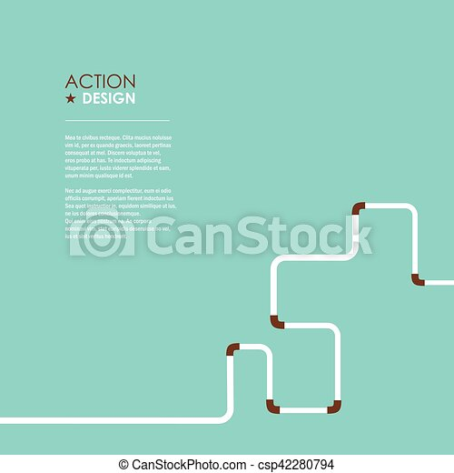 Water Pipe Vector illustration - csp42280794