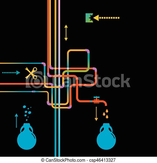 Water Pipe Vector illustration - csp46413327