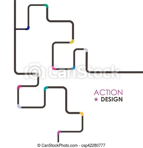Water Pipe Vector illustration - csp42280777