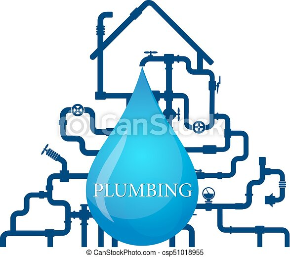 water pipes and house vector water pipes and house for clipart rh canstockphoto ca plumbing icons clipart plumbing clip art free
