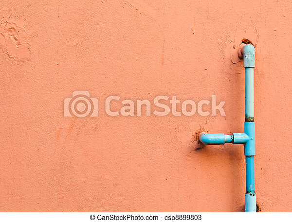 Water pipes on the wall - csp8899803