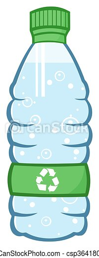 Water Plastic Bottle  - csp36418016