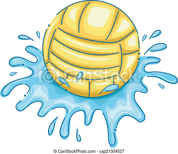 illustration featuring a water polo ball with water vector rh canstockphoto com Water Polo Ball Logo Water Polo Ball Logo