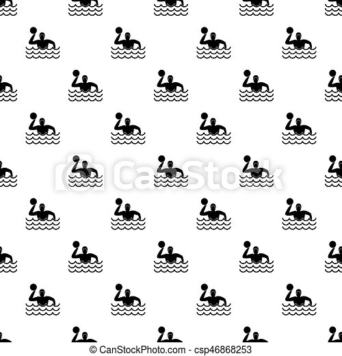 Water polo pattern vector - csp46868253