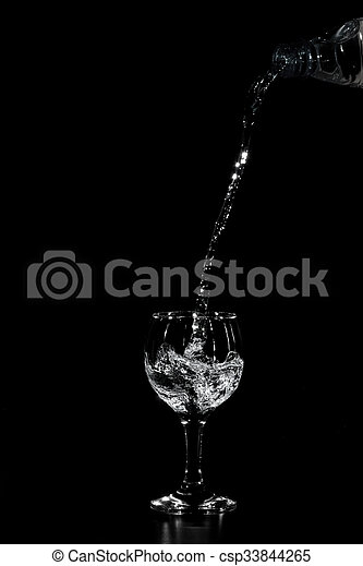 Water poured from the bottle - csp33844265