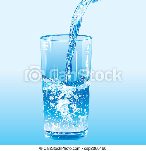 Water poured into a tumbler - csp2866468