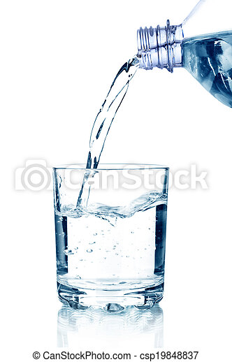 water poured into glass - csp19848837