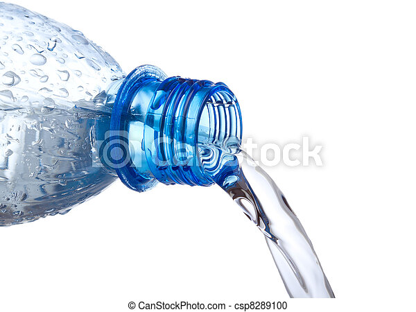 water pouring down from plastic bottle - csp8289100