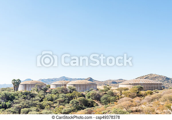 Water reservoirs in the centre of Windhoek - csp49378378