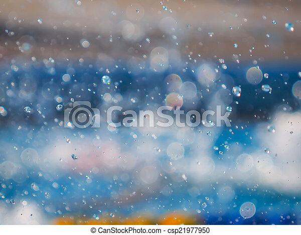 Water splash abstract - csp21977950