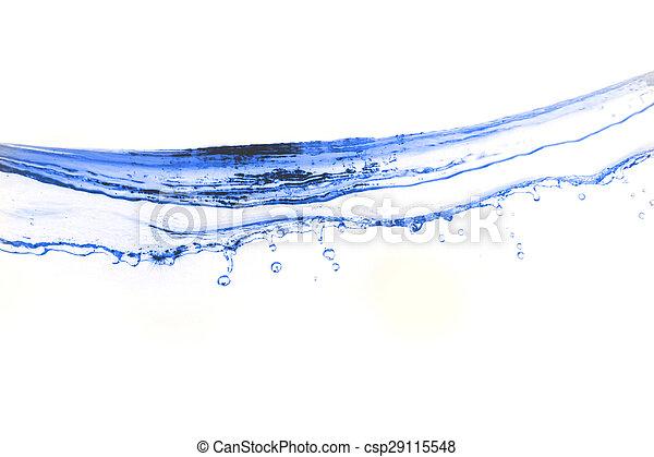 Water splash background. - csp29115548