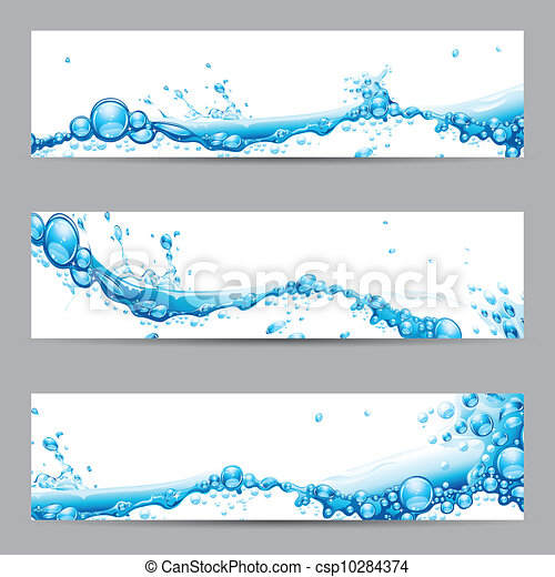 Water Splash Banner - csp10284374