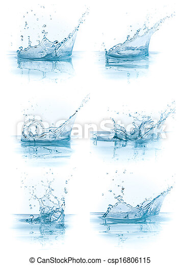 water splash collection - csp16806115