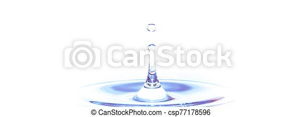 Water splash isolated on white background - csp77178596