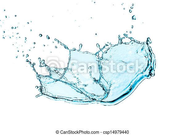 Water splash isolated - csp14979440