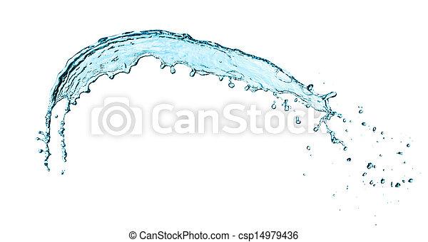 Water splash isolated - csp14979436