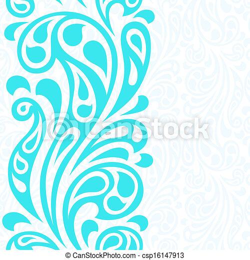 Water splash seamless waves abstract pattern. - csp16147913