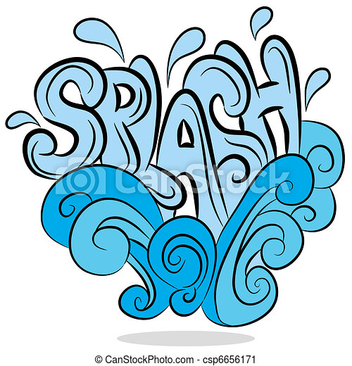 an image of a water splash sound effect text vector clip art rh canstockphoto com splash clipart png splash clipart png