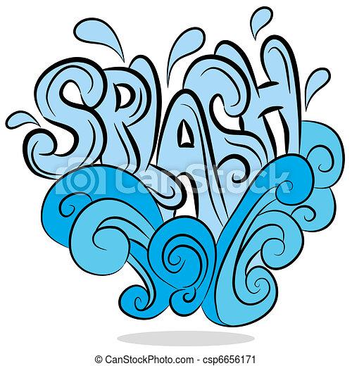 Water Splash Sound Effect Text - csp6656171