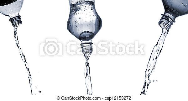 Water splashes from bottle - csp12153272
