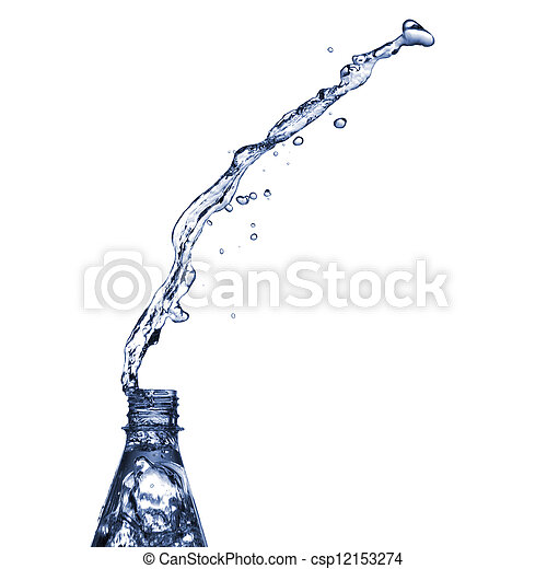Water splashes from bottle - csp12153274