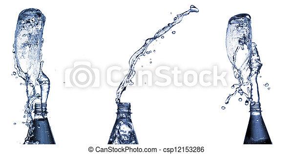 Water splashes from bottle - csp12153286