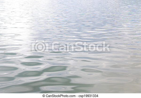 Water surface texture with soft waves  - csp19931334