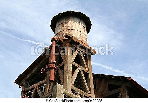 water toren, oud - csp0429235