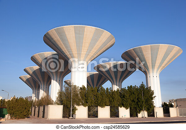 Water towers in Kuwait, Middle East - csp24585629