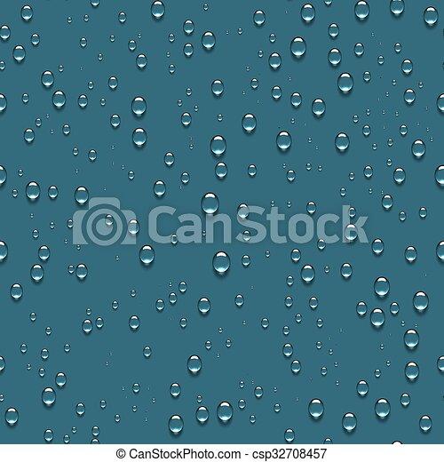 Water Transparent Drops Seamless Pattern - csp32708457