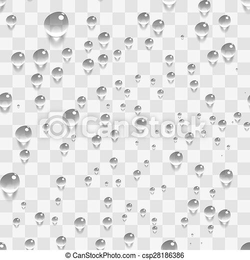 Water Transparent Drops Seamless Pattern Background. - csp28186386