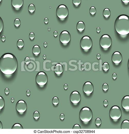Water Transparent Drops Seamless Pattern - csp32708944