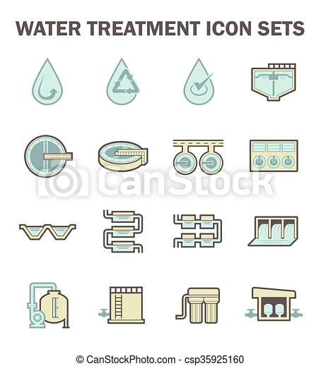 Water treatment icon - csp35925160