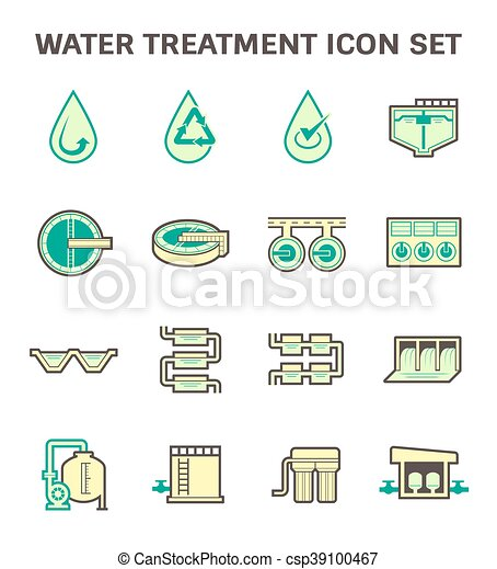 Water treatment icon - csp39100467