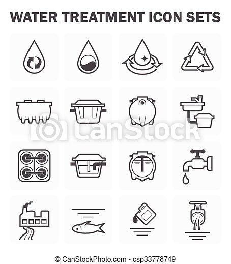 Water treatment icon - csp33778749