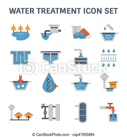water treatment icon - csp47955984