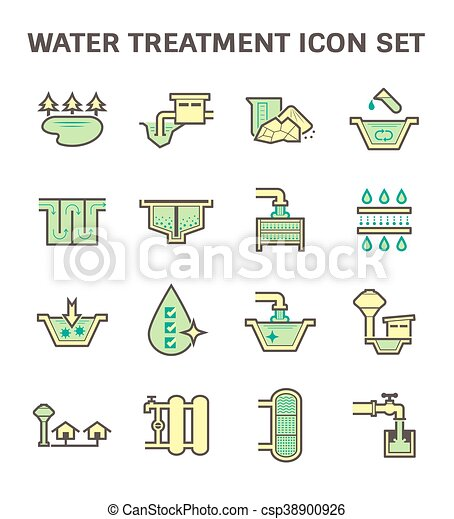 Water treatment icon - csp38900926