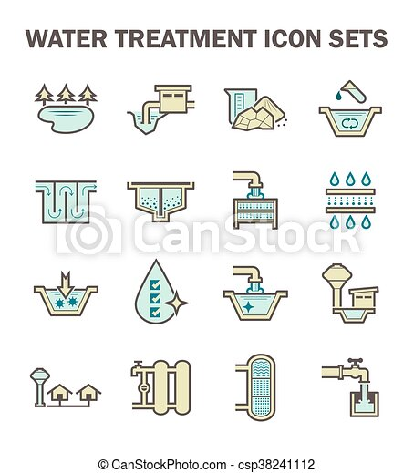 Water treatment icon - csp38241112