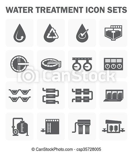 Water treatment icon - csp35728005