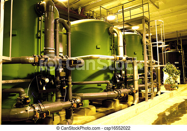 water treatment tanks at power plant - csp16552022