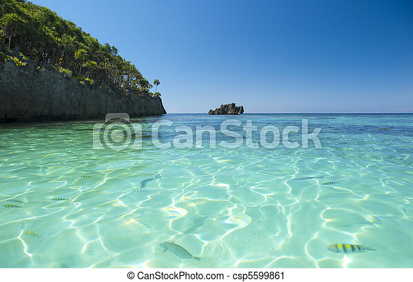 Water view in Caribbean - csp5599861