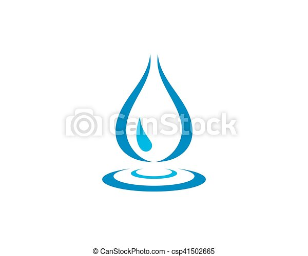 Water Wave Logo Template Wave Water Droplet Element Icons Business