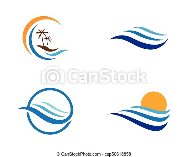 water wave logo template vector illustration design clipart vector rh canstockphoto com ocean wave logo free