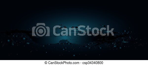 Water Wave With Bubbles - csp34340800