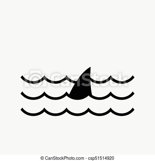 Water Wave04 Water Wave With Shark Symbol Vector Icon
