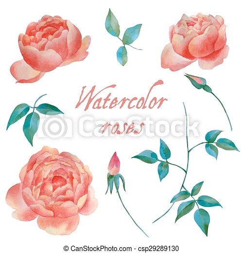 Watercolor background - csp29289130