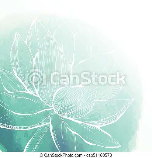 Watercolor background with lotus flower abstract hand drawn watercolor background with lotus flower csp51160570 mightylinksfo