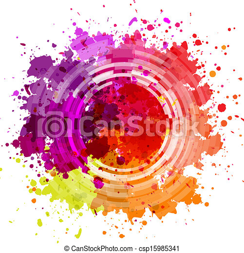 Watercolor Blot Abstract Background - csp15985341