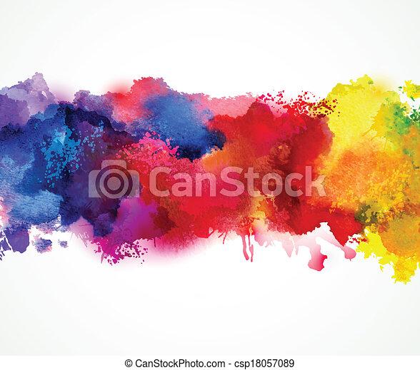 watercolor blot - csp18057089