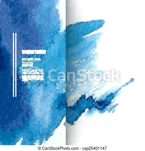 Watercolor blue background - csp25401147